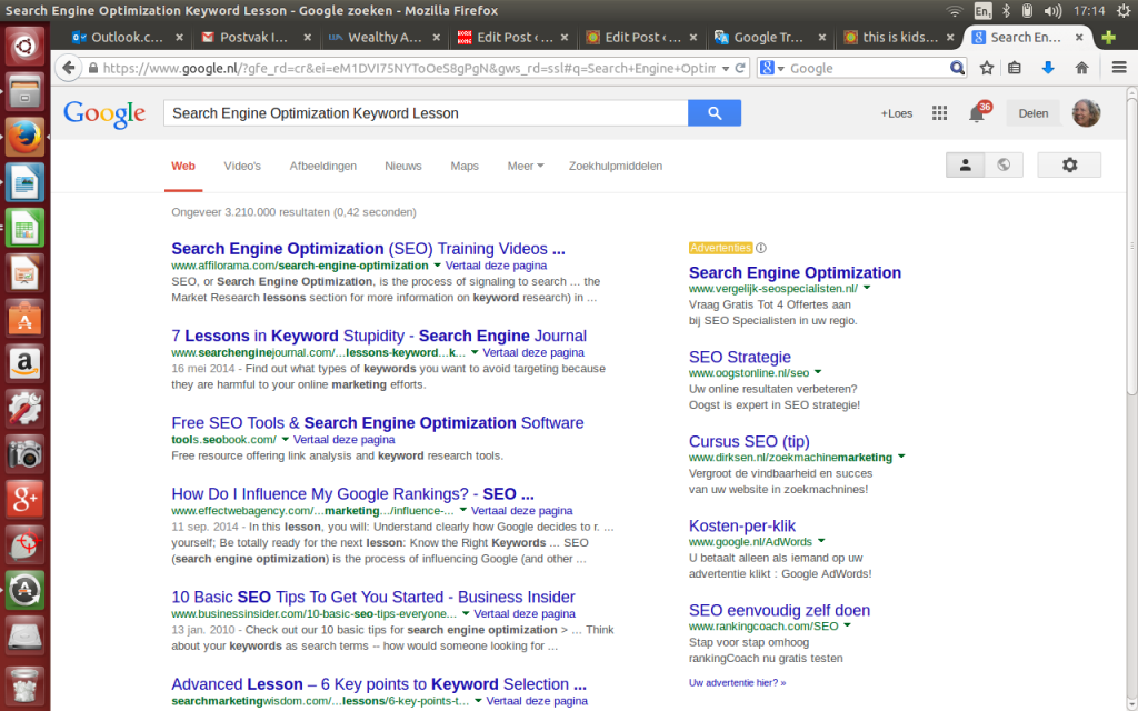 Search Engine Optimization Keyword Lesson