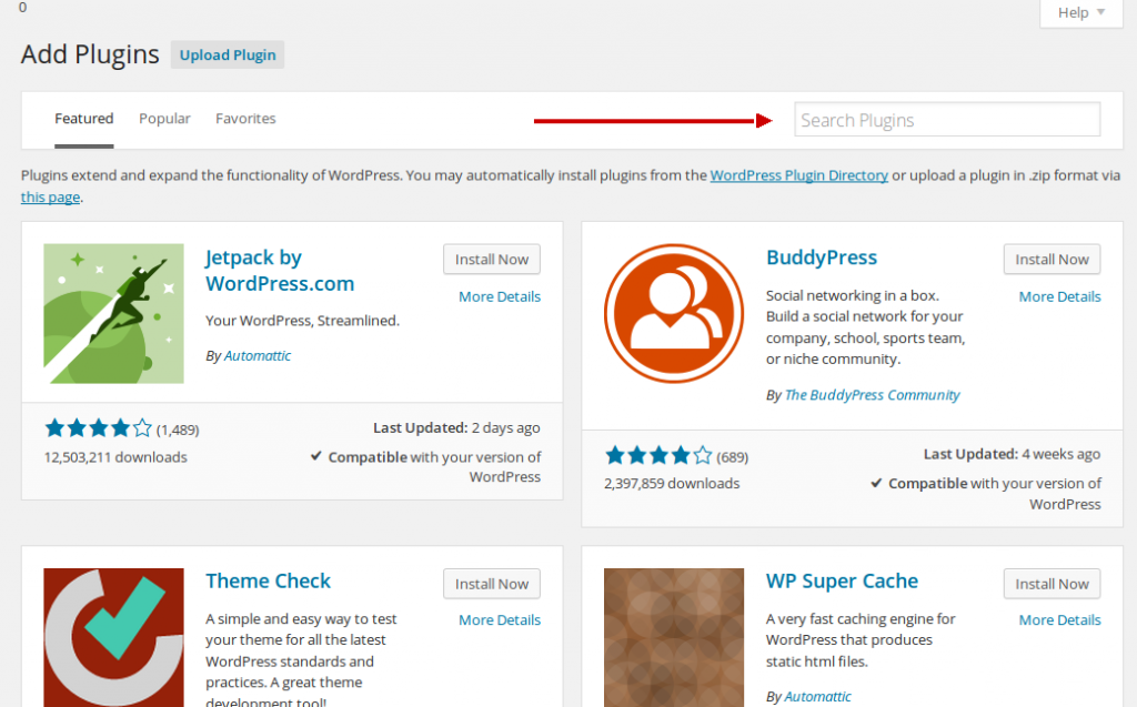 wordpress tutorial search new plugin