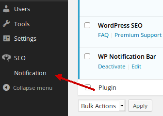find your plugin in the WP dashboard menu