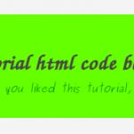 html code block