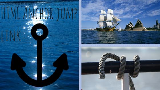 html Anchor, Jump Link