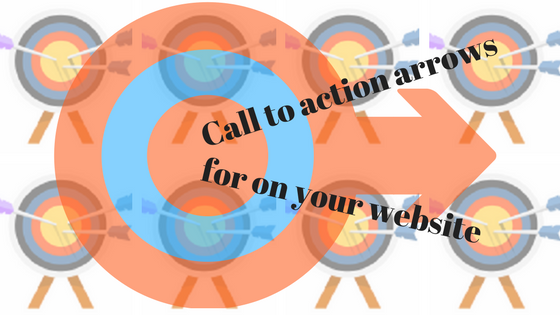Call to action arrows for on your website