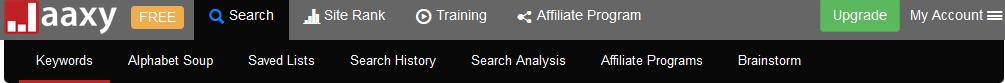 Google keyword tool search