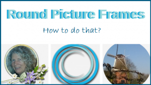 Round picture frames