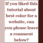 best color for a website