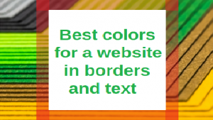 best colors for a website in borders and text
