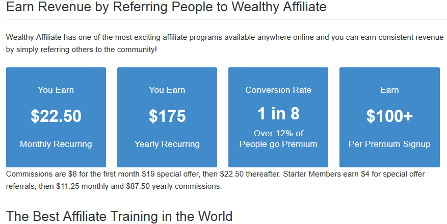 Wealthy Affiliate earn revenue