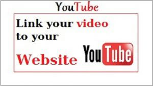 Youtube link your video to your website