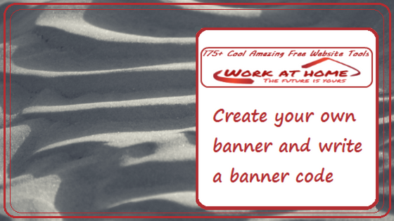 Create And Share Your Own Banner And Banner Code Work At