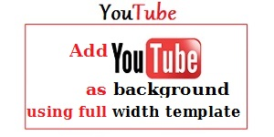 Youtube Background as full width template