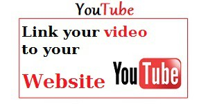 link youtube video to your website