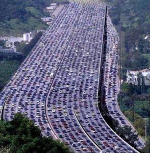 Traffic jam on the internet