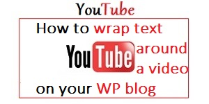 Wrap text around a video