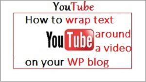 Youtube Wrap text around a video
