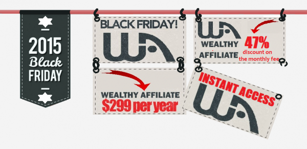 Wealthy Affiliate black friday discount
