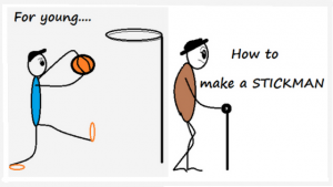 How to draw a stickman