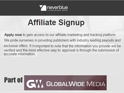 Neverblue, part of GlobalWide Media