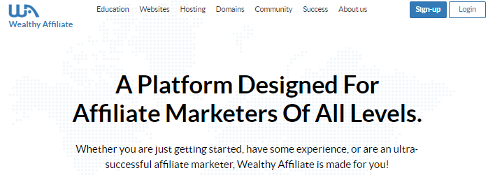 Signup or login to Wealthy Affiliate