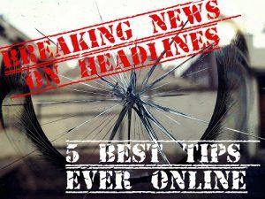 Breaking news on headlines