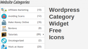 Wordpress Category Widget Free Icons