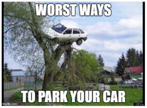 Worst ways to park your car
