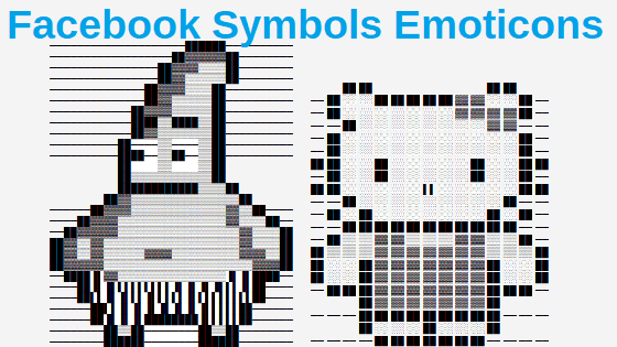 Facebook symbol emoticons