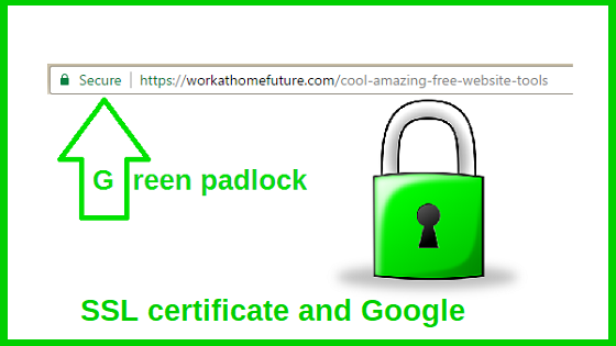 Green padlock SSL certificate and Google