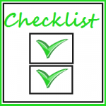 Checklist before publishing