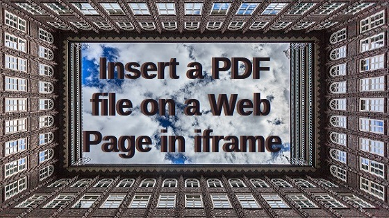 PDF and web page in iframe 560