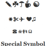 Special symbol codes