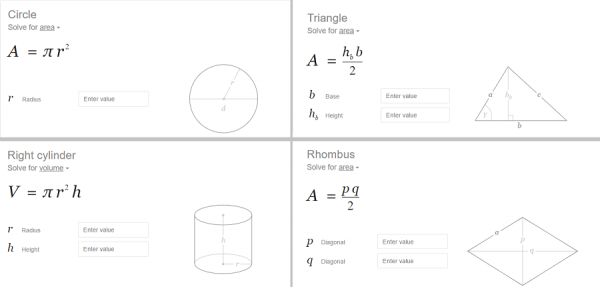 Google solve circle Rhombus Triangle Cylinder