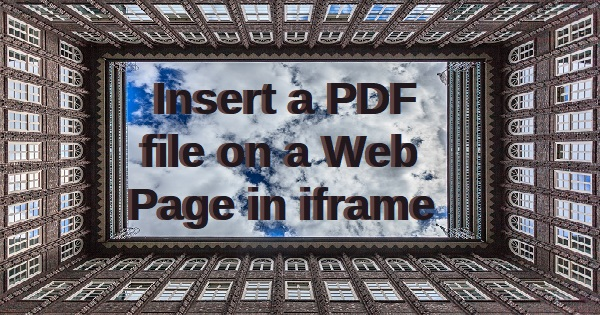 PDF and web page in iframe