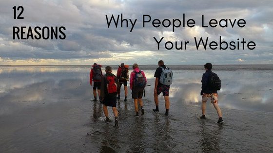 12 reasons why people leave your website