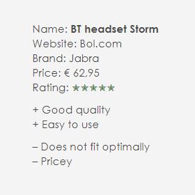 Bluetooth Jabra Storm