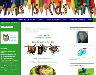 thisiskidsart.com This is kids art, garbage art for kids