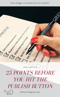 25 points before you hit the publish button