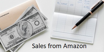 Sales from Amazon