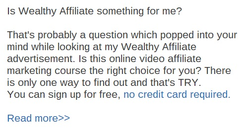 Is Wealthy Affiliate something for me