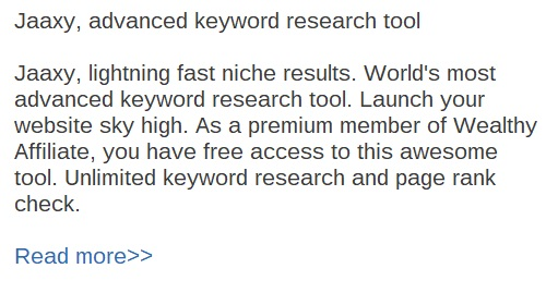 Jaaxy advanced keyword research tool