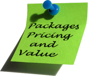 Packages pricing value note