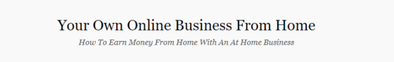 your own ecommerce business website