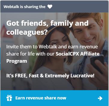 Webtalk invitation
