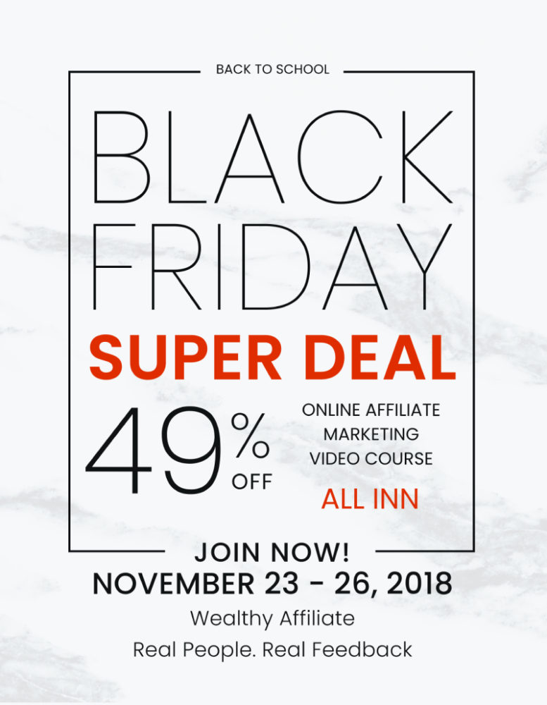 editable Black Friday Discount Flyer