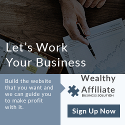 Wealthy Affiliate simple banner ad sign up now