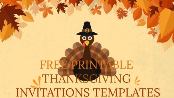 Free Printable Thanksgiving Invitations Templates And Editable For Christmas