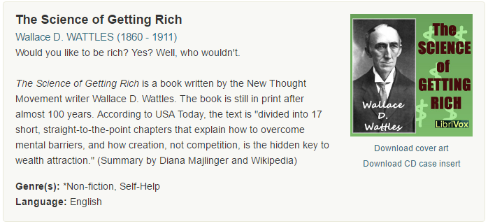 The science of getting rich Walles D. Wattles