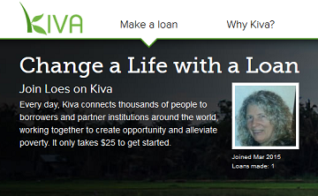 Contact Loes on Kiva