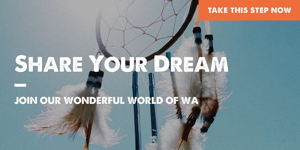 Share your dream on a website