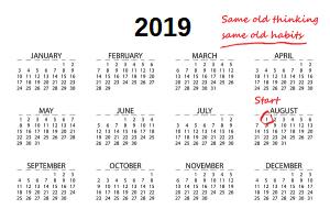 calendar-2019 start habit