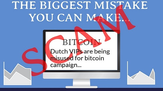Dutch VIPs are being misused for bitcoin campaign
